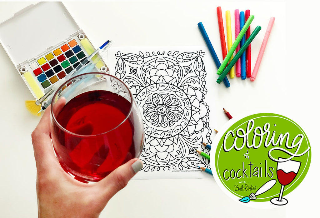 Coloring with Cocktails Activity Page