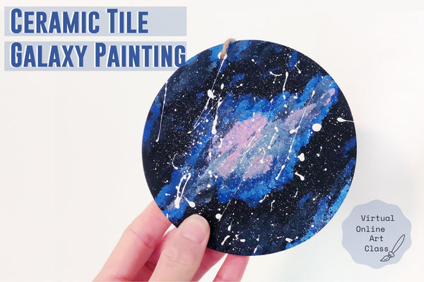 Virtual Summer Art Workshop - Galaxy Tile