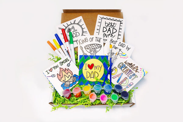 DIY Build Your Own Father's Day Coloring Coaster Kit