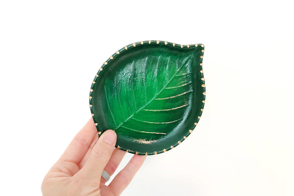 ONLINE CLASS - Paint Your Own Leaf Dish