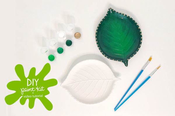 Paint Your Own Leaf Dish - TO GO Kit