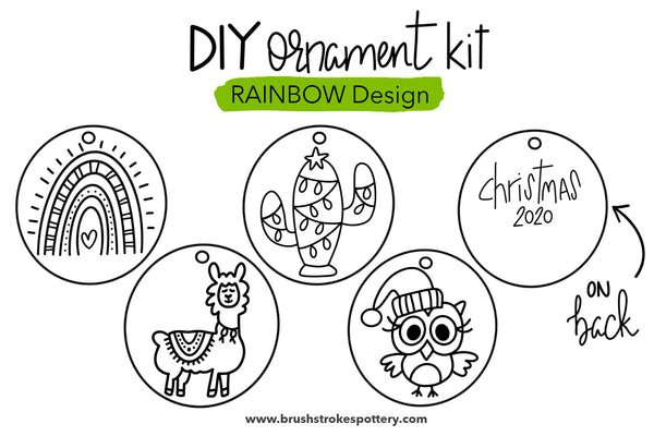 DIY Rainbow Fun Ornament Coloring Kit