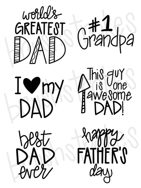 Father's Day Sayings Silk Screen