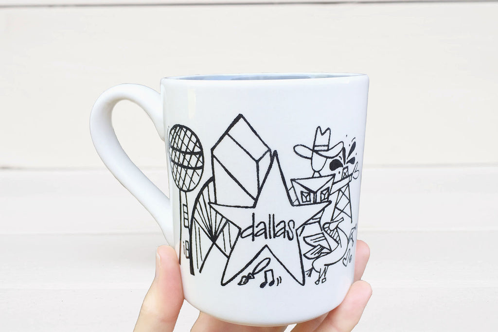 Dallas TX Favorites Skyline Coffee Mug