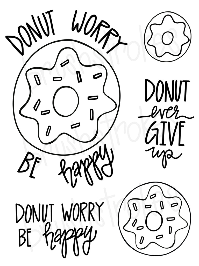 Donut Love Coloring Book Silk Screen