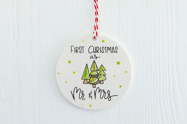 First Christmas as Mr. & Mrs. Ornament |  Personalized
