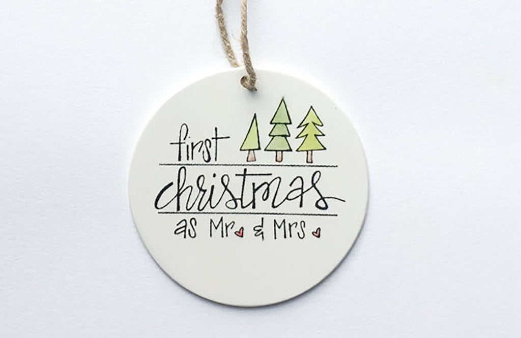 Our First Christmas as Mr. & Mrs. | First Christmas Ornament | Personalized