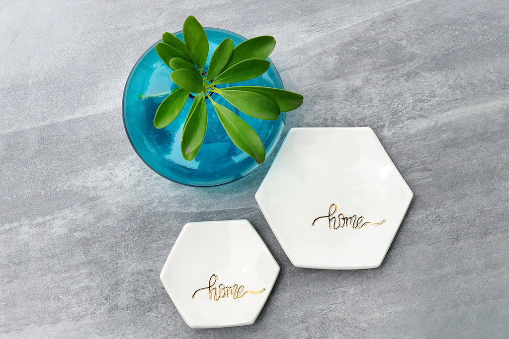 Hexagon Home Ring, Trinket, Jewelry Dishes