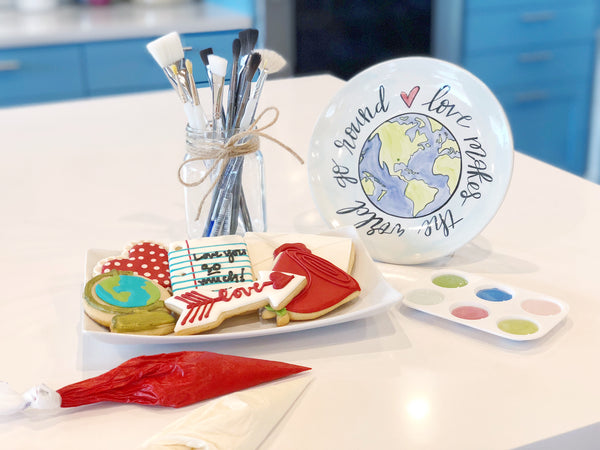Love Makes The World Go Round: Pottery Painting & Cookie Decorating
