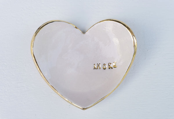 Blush Amore Ring Dish in Gold