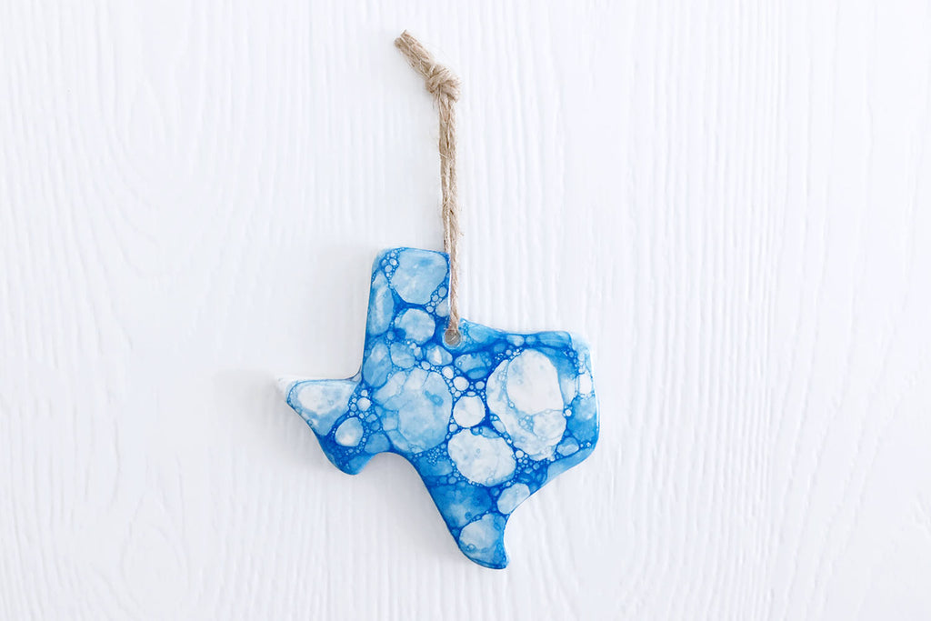 Texas Blue Bubble Christmas Ornament