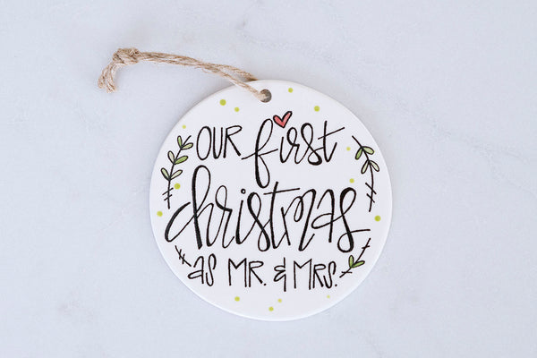 Our First Christmas as Mr. & Mrs. Ornament |  Personalized