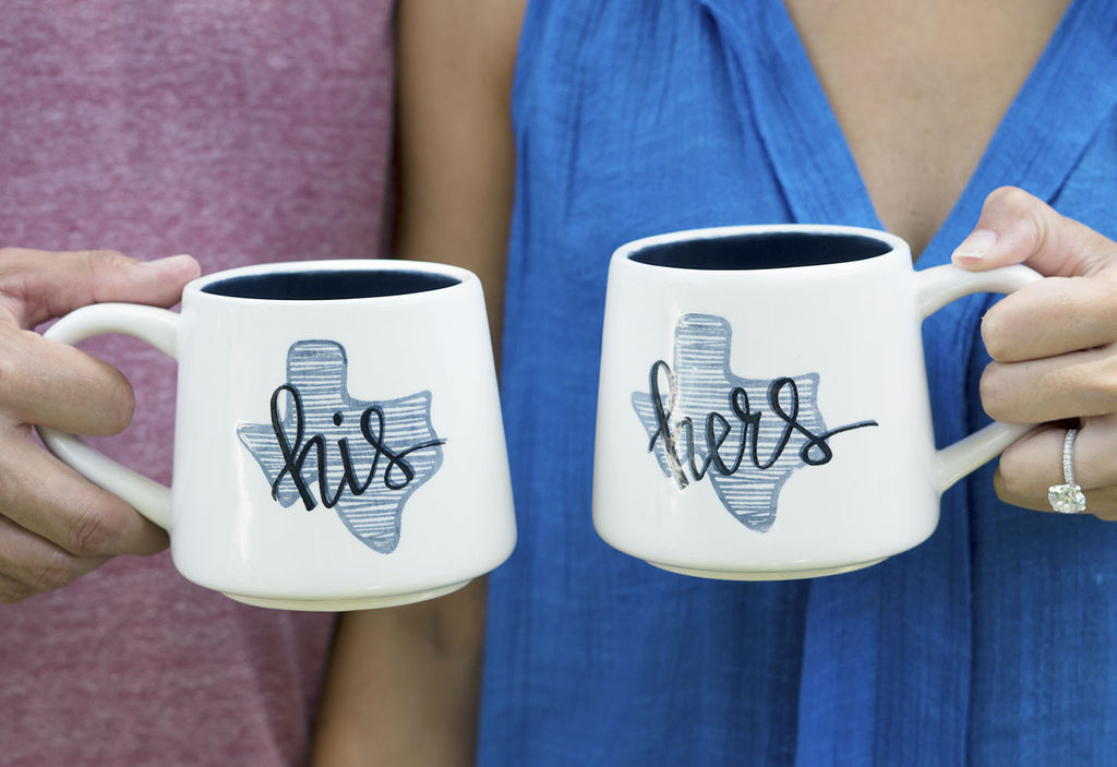 Texas His & Hers Coffee Mug - Set
