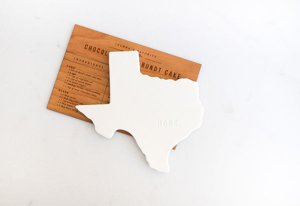 Texas Ceramic Coaster with Home Engraved