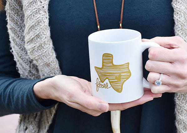 Texas Forever Coffee Mug - (Gold)