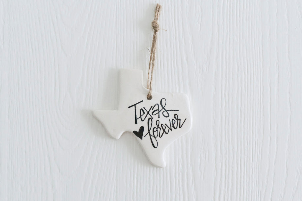 Texas Forever Ornament Black