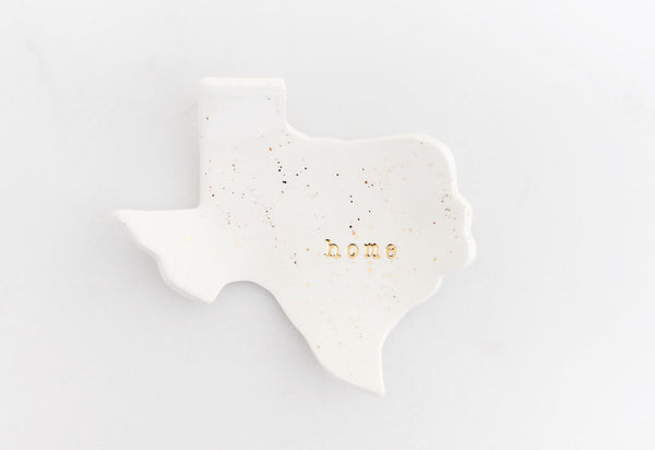Texas Home Ring Dish on Ash Grove Studio board