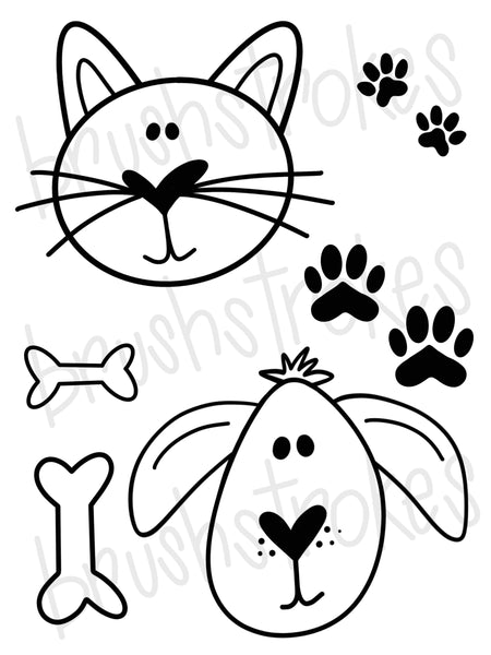 Kitten/Puppy Coloring Book Silk Screen
