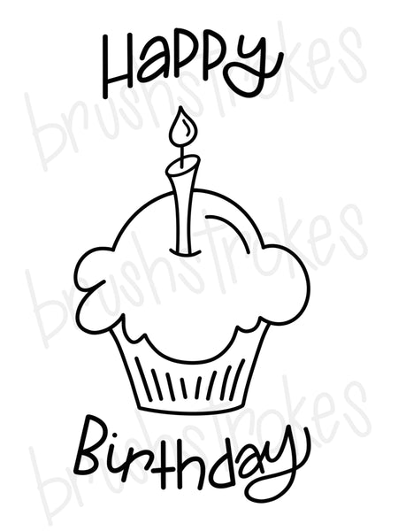 Birthday Celebration (Large) Coloring Book Silk Screen