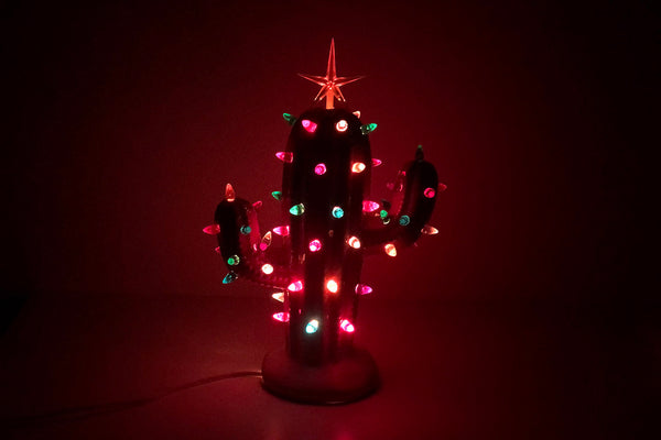 Lighted Ceramic Cactus Tree