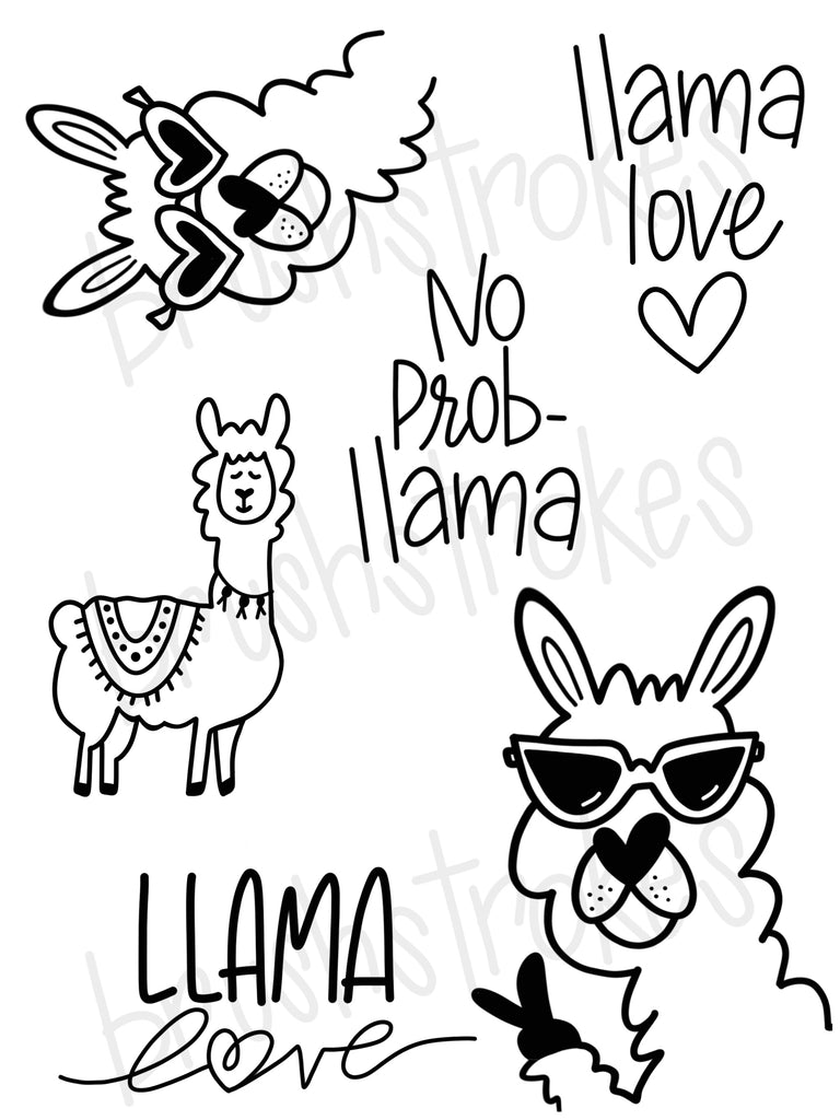 Llama Love Coloring Book Silk Screen