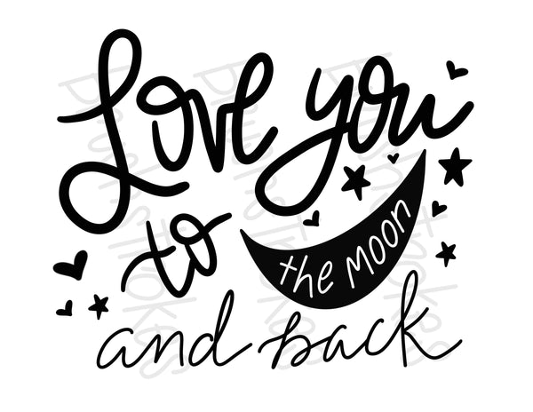 Love You to the Moon and Back (Large) Silk Screen
