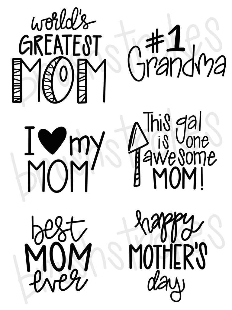 Mother's Day Sayings Silk Screen