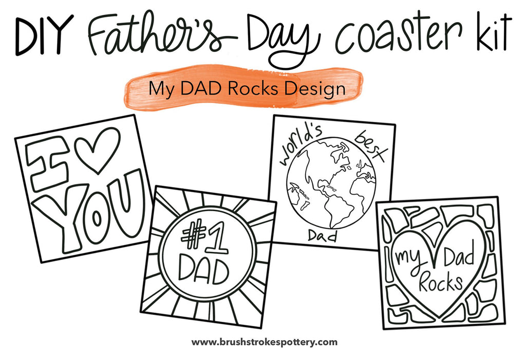 DIY for Dad - Father's Day Coaster Kit