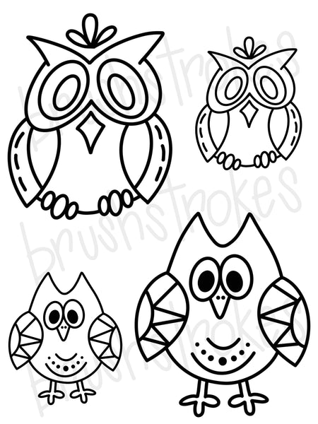 Hoot Hoot Owls Coloring Book Silk Screen
