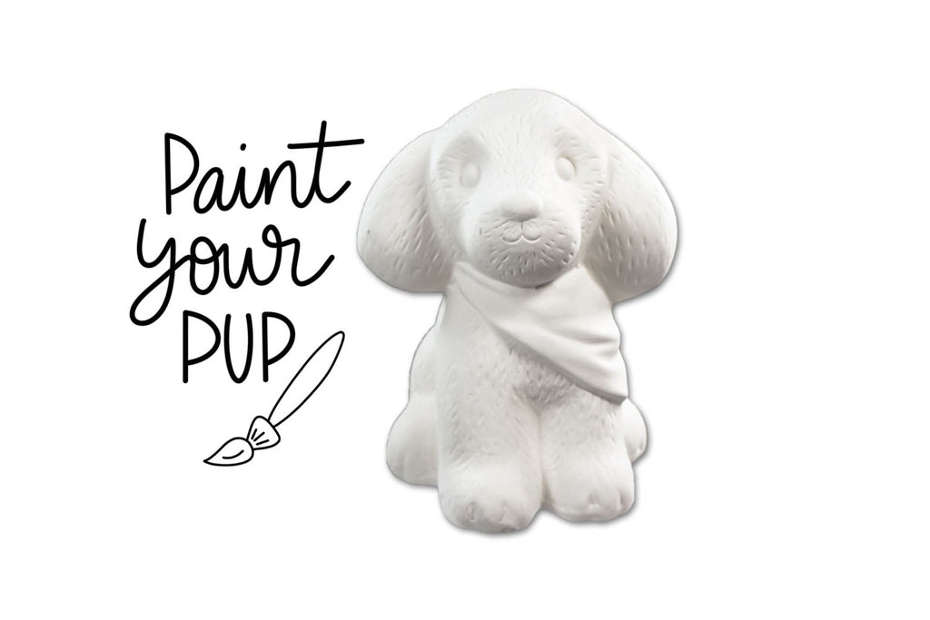Virtual Yappy Hour - Paint your own Pottery Pup