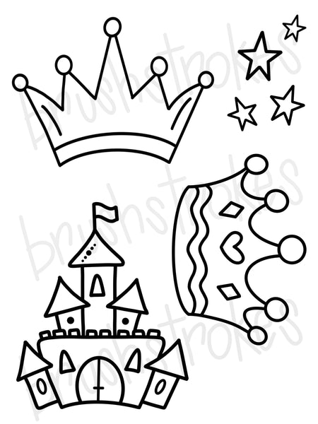 Princess Fairytale Coloring Book Silk Screen