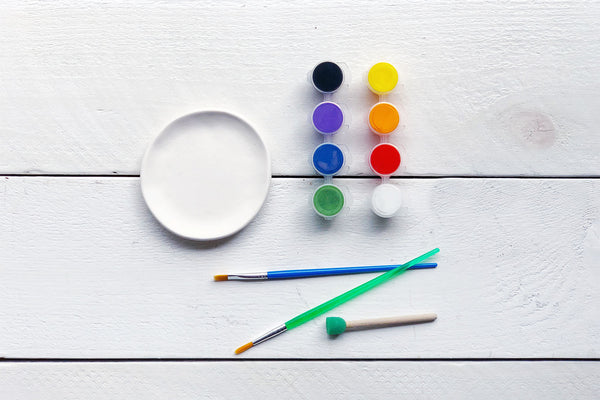 Paint Your Own Round Ring Dish TO GO Kit