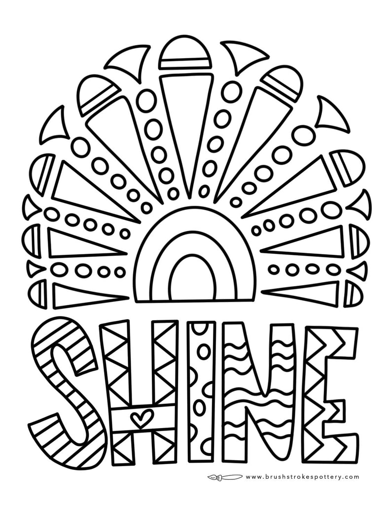 Shine Rainbow Coloring Page