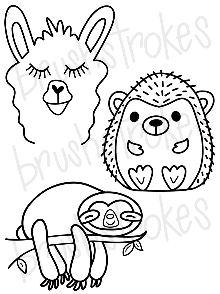 Slow Moving Creature Coloring Book Silk Screen