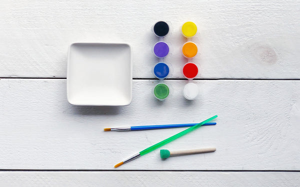 Paint Your Own Square Ring Dish TO GO Kit
