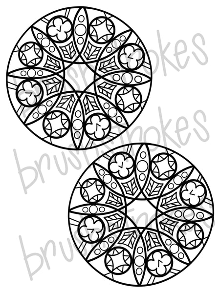 Dream Catcher/ Mandala Coloring Book Silk Screen