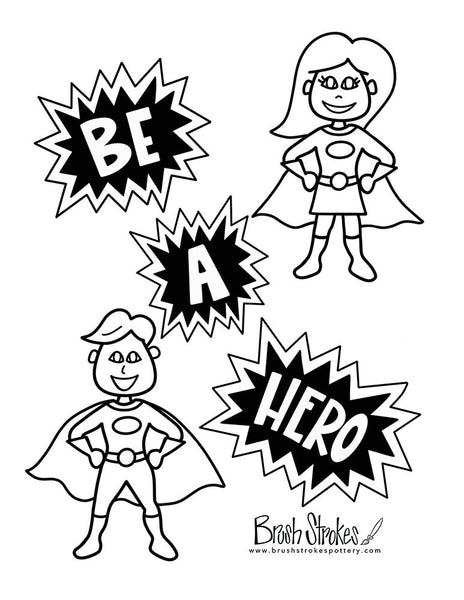Super Hero Coloring Activity Bundle