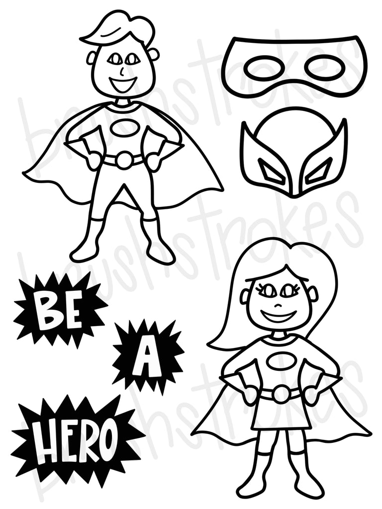 Super Hero Coloring Book Silk Screen
