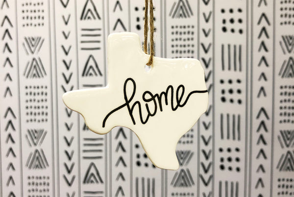 Texas Home Christmas Ornament - Script