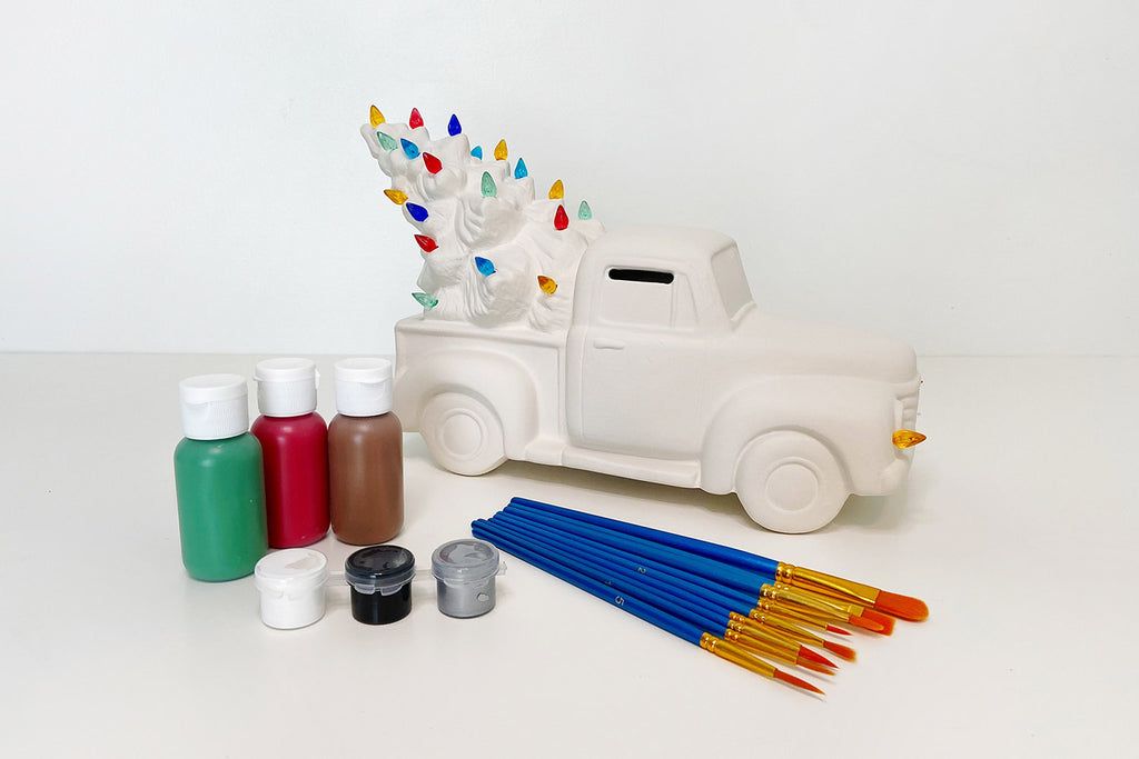 DIY Lighted Ceramic Tree Truck Paint Kit