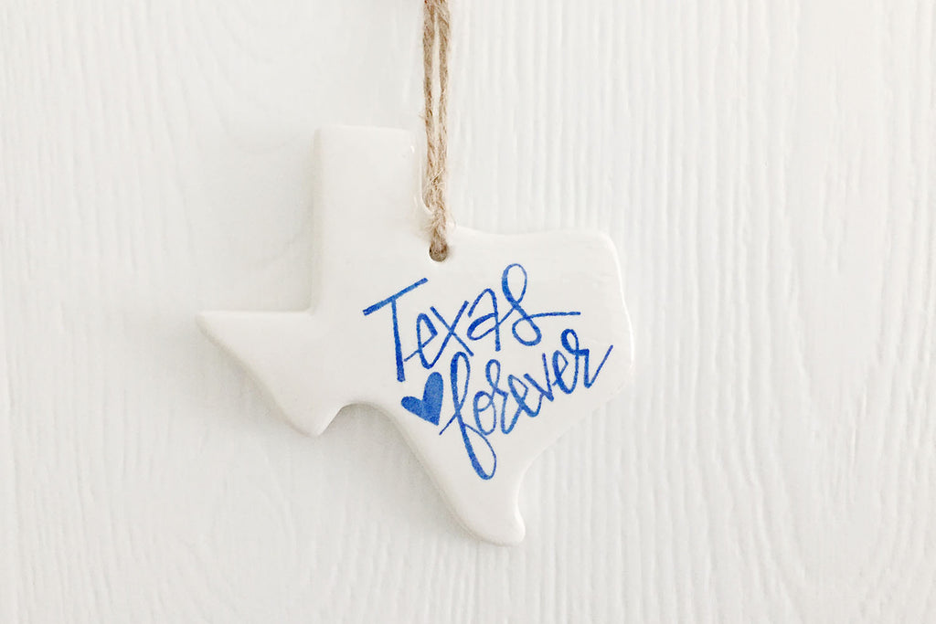 Texas Forever Ornament Bright Blue
