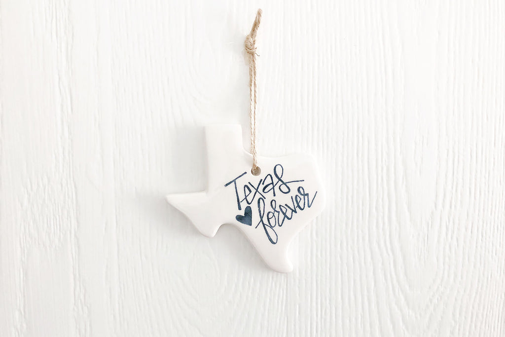 Texas Forever Ornament Navy