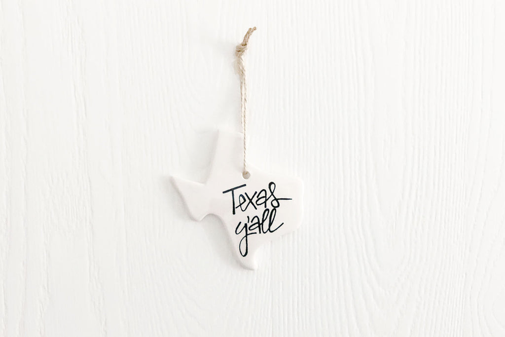 Texas Y'all Ornament Black