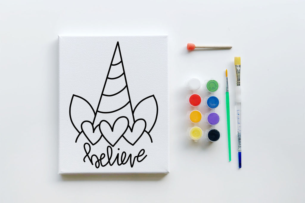 DIY Paint Your Own Canvas Kits - Coloring Book