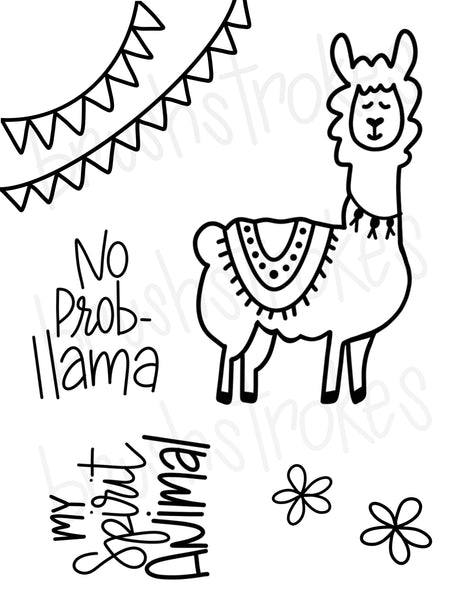 Luis the Llama Coloring Book Silk Screen