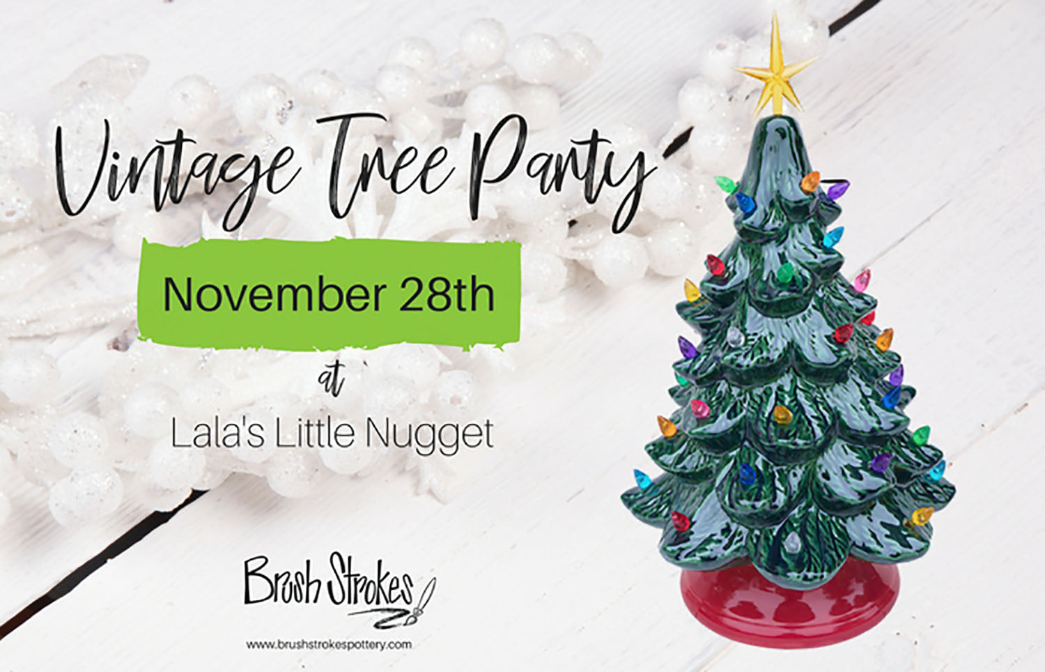 Vintage Christmas Tree Painting at Lala\'s Little Nugget - Austin, TX ...