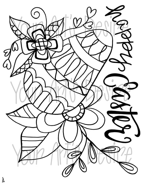 Happy Easter Coloring Book Silk Screen