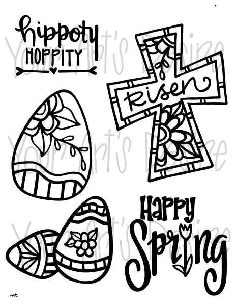 Hippoty Hoppity Easter Spring Silk Screen