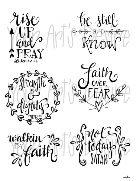 Faith Based Silk Screen - Small Sizes