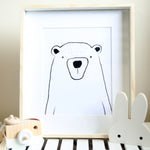 Boris Illustration - Scandinavian Bear Print